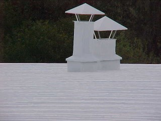 Commercial white metal roof
